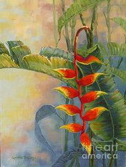 Heliconia Paintings - Heliconia by Sandra Williams