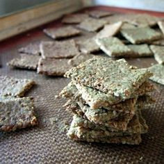 Seed and Zucchini Crackers