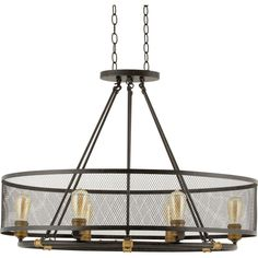 Progress Lighting Heritage Collection 6-Light Forged Bronze Chandelier-P7926-77 - The Home Depot