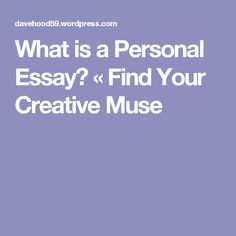 Picturing The Personal Essay A Visual Guide  Creative Nonfiction