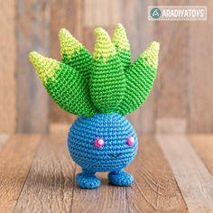 """Modèle au crochet de Mystherbe de """"Pokemon"""" - Modèles de crochet chez Makerist"""
