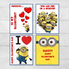 Minion Despicable Me Valentine Cards for by CutiePatootieRoomie
