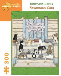 Edward Gorey Seventeen Cats 300-Piece Puzzle – The Reader's Catalog @ NYR