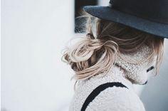 #hair_inspo #black_fedora #knit