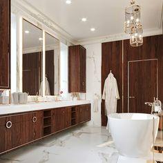 Penthouse modern de lux - Creativ-Interior Interior Projects, Decor, Framed Bathroom Mirror, Furniture, Interior, Modern, Home Decor, Mirror, Penthouse