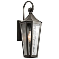 Buy the Kichler Olde Bronze Direct. Shop for the Kichler Olde Bronze Rochdale Single Light Tall Outdoor Wall Sconce with Water Glass Panels and save. Outdoor Wall Lantern, Outdoor Wall Sconce, Outdoor Wall Lighting, Wall Sconce Lighting, Outdoor Walls, Candle Sconces, Wall Sconces, Exterior Lighting, Lighting Ideas