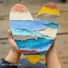 18 Brilliant Valentine's Day themed Heart Art Projects for Kids. Find creative art projects for kids of all ages and ability. Valentine's Day Crafts For Kids, Diy Arts And Crafts, Art For Kids, Art Children, Easy Art Projects, Projects For Kids, Texture Art Projects, Paper Art Projects, Ecole Art