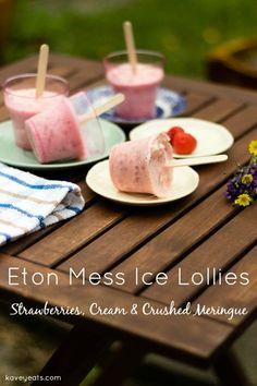 Eton Mess Strawberry Cream Meringue Lollies - Kavey Eats - © Kavita Favelle  overtext
