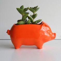 Ceramic Mini Desk Pig Planter