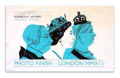 """Photo Finish"" Diamond Jubilee Tea Towel: Victoria - 63 years, Elizabeth II - 60 years, George III - 59 years"