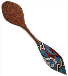 Marron (Ndyuka, Aukaner) roeispaan art (Suriname)