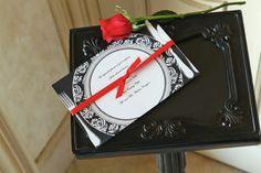 Red Wedding Invitation, large