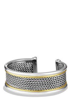 David Yurman 'Wheaton' Cuff with Gold