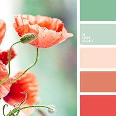 алый, красный и салатовый, оттенки бежевого, оттенки красного, салатово-бежевый цвет, салатовый, салатовый и бежевый, салатовый и красный, цвет арбуза, цвет клюквенного сока, цвет мякоти арбуза, яркий красный.