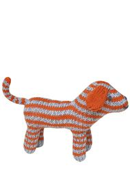 Kuscheltier gestreifter Hund /   Dog Rattle Orange