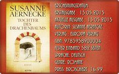 """Leserattes Bücherwelt: [Rezension´] Tochter des Drrachenbaums""""  SUSANNE A..."""