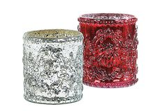 One Kings Lane - Season's Best - Mercury Glass Votive Holders, Asst. of 2