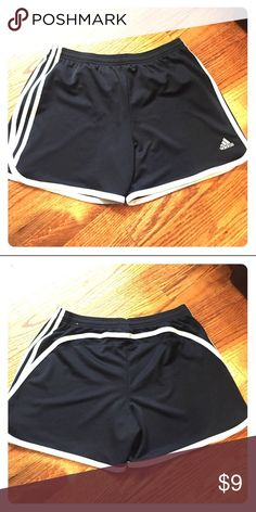 """Black Adidas Running Shorts Black Adidas Running Shorts.  Worn maybe once, in excellent condition.  4"""" inseam. adidas Shorts"""