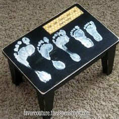 DIY Mothers Day Gift Ideas. I want to do this as a coffee table with grand babies hands at 1 year b-day.
