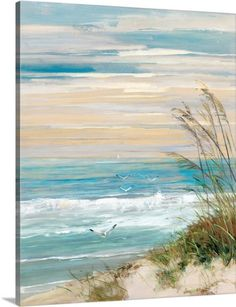 Sally Swatland Premium Thick-Wrap Canvas Wall Art Print entitled Beach At Dusk, None