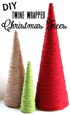 Lovely Little Life: DIY Twine Wrapped Christmas Trees