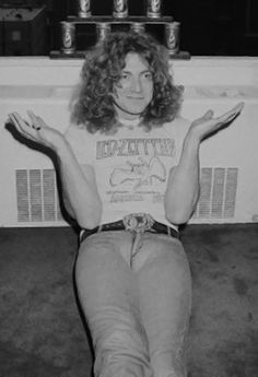 Robert Plant with moose knuckle. That looks so uncomfortable.