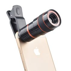Zoom Telephoto Telescope Camera Various Cell Phone iPhone Clip Lens Universal Back Camera, Camera Lens, Samsung S8 Wallpaper, Galaxy Note, Distancia Focal, Iphone 6, Photo Lens, Flip Phones, Lg Phone