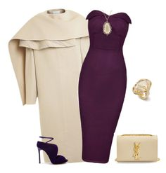 """""""outfit 2509"""" by natalyag ❤ liked on Polyvore featuring PINGHE, Casadei, Suzanne Kalan, Chavin Jewellery and Yves Saint Laurent"""