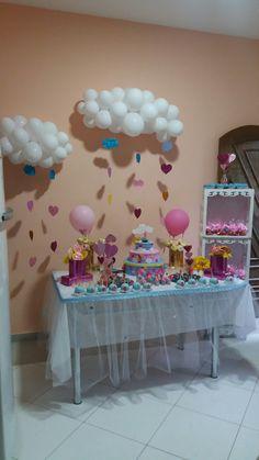mesa chuva de bençãos Muana Birthday Party, 1st Birthday Cakes, Rainbow Birthday, Unicorn Birthday Parties, Unicorn Party, Girl Baby Shower Decorations, Diy Birthday Decorations, Balloon Decorations, Baby Shower Themes