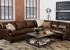 arcata four piece leather sectional quick ship living room