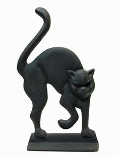 Iwgac Home Decorative Cast Iron Black Cat Door Stop * Click on the image for additional details. (This is an affiliate link and I receive a commission for the sales)