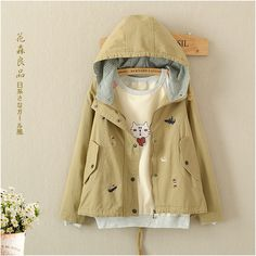 Chinese Coat: On Sale Vintage Coats 2017 New Autumn Winter Fashi... Style Japonais, Collars For Women, Jackets For Women, Clothes For Women, Mori Girl, Outerwear Women, Autumn Winter Fashion, Sleeve Styles, Long Sleeve