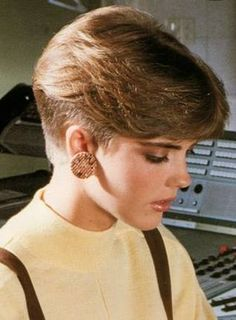 brushed back short wedge hair style - Google Search
