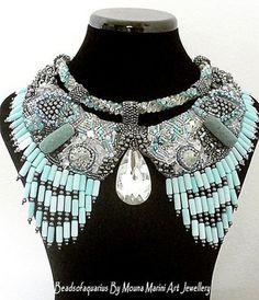 High Fashion Statement  Necklace  Under the by beadsofaquarius