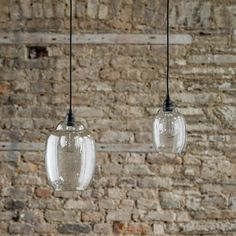 A beautiful hand made Scandinavian pendant light. The clear recycled glass has a simple, organic feel. Complete with black ceiling rose and of black fabric cable that can be cut to the required height. Perfect for kitchens and over kitchen islands. Bathroom Hanging Lights, Bathroom Pendant Lighting, Contemporary Bathroom Lighting, Bathroom Light Fixtures, Kitchen Lighting, Clear Glass Pendant Light, Small Pendant Lights, Black Pendant Light, Glass Pendants