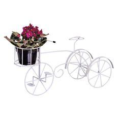 Porta Flores Bicicleta em Ferro. Esta linda floreira feita em ferro, possui um estilo único que deixará seu jardim mais bonito e cheio de vida.