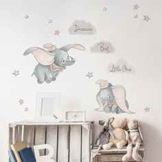 - Disney Dumbo Wall Stickers Best Picture For Disney Home Decor babies nursery For Your Taste Disney Baby Rooms, Disney Baby Nurseries, Disney Bedrooms, Disney Nursery, Baby Girl Room Decor, Baby Room Design, Baby Boy Rooms, Baby Decor, Dumbo Nursery