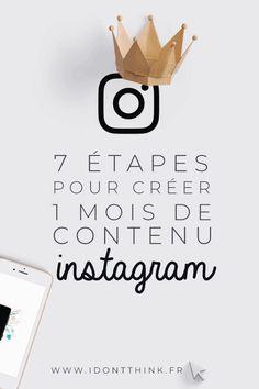 7 étapes pour créer un mois de contenu sur Instagram