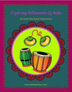 A perfect mini-course for kids on the instruments of India. From the sound of the sitar to the jingle of ankle bells, this TPT E-book shares the beautiful and diverse musical instruments (manjira handbells, tabla drums, dhol drums and sitar) through mini posters and coloring pages as well as two MYO activities for creating ankle bells (ghungroo) and a recycled dhol drum.