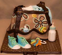 LIFE SIZE DIAPER BAG CAKE - My newest cake .....LIFE SIZE DIAPER BAG CAKE ...ALL EDIBLE AND HANDMADE BY ME:)  inspiration Julie Smith.