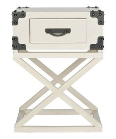 Look what I found on #zulily! White Hadley Accent Table by Safavieh #zulilyfinds