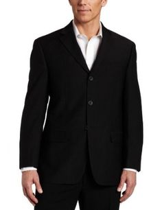 Geoffrey Beene Mens Black Stripe Suit Separate Coat