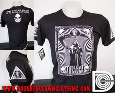 DEATH TAROT CARD Shirt from Drunkenclownclothing.com