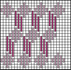 Discover thousands of images about Diamond Zig Zag (partially finished) Bargello Patterns, Bargello Needlepoint, Needlepoint Stitches, Hand Embroidery Stitches, Diy Embroidery, Embroidery Techniques, Embroidery Patterns, Machine Embroidery, Plastic Canvas Stitches