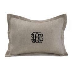 Flax Linen Baby Pillow Sham - liz-and-roo-fine-baby-bedding.myshopify.com - 1