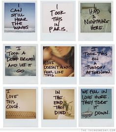 Polaroid diaries-- for some reason, I found this beautifully heartbreaking