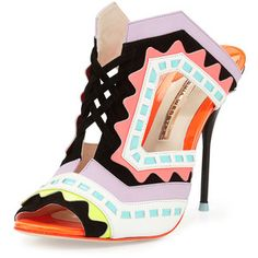 Sophia Webster Riko Colorblock Slide Sandal