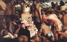 Adoration of the Shepherds // 1546 // Jacopo Bassano // Royal Collection, Windsor