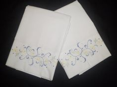 Embroidered Standard Pillow Case CoversSet of by anncraftcorner, $20.00
