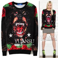 Find More   Information about Yuansu Store new arrival 2014 street style tide animal Fashion ladies women's hoodies long sleeve pullover sweatshirt,High Quality  ,China   Suppliers, Cheap   from yuansu  on Aliexpress.com